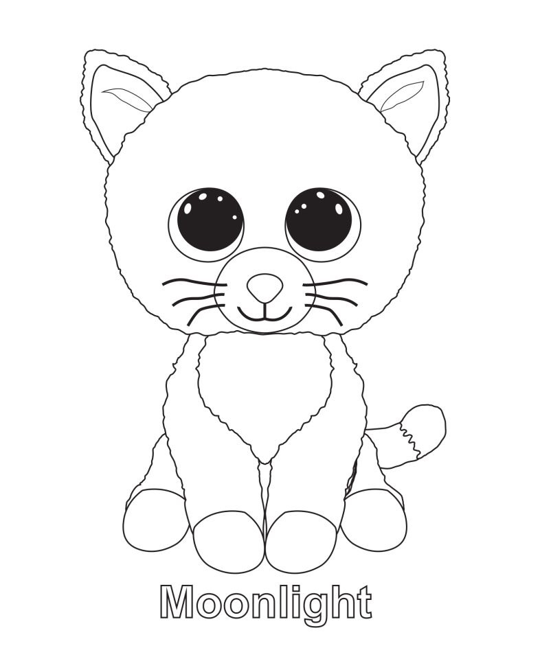 beanie boos coloring pages only at getdrawings free