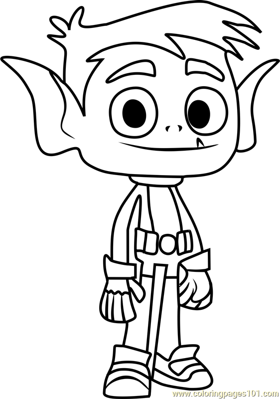 beast boy coloring page free teen titans go coloring pages