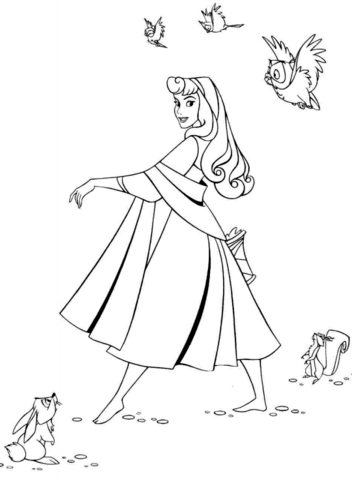 beautiful aurora coloring page free printable coloring pages
