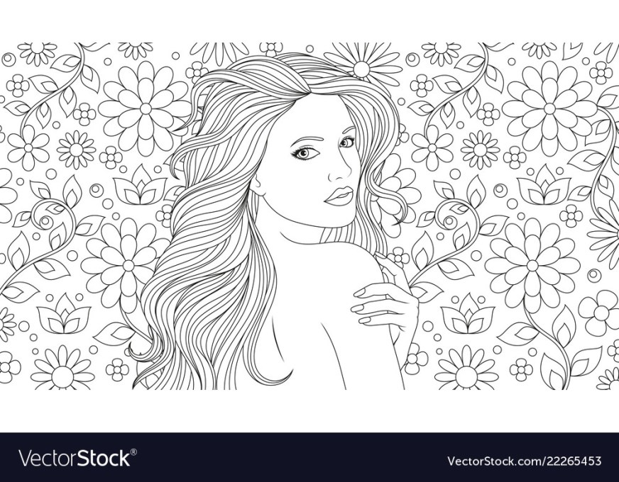 beautiful girl coloring pages