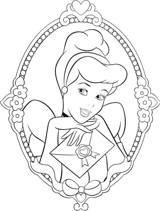 beautiful princess cinderella coloring page coloring pages