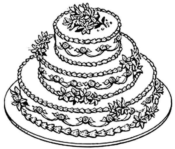 beautiful wedding cake coloring pages best place to color