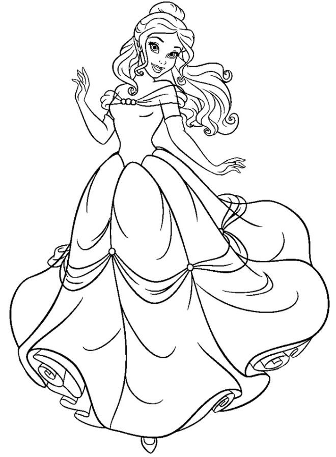 beauty and the beast coloring page printable disney