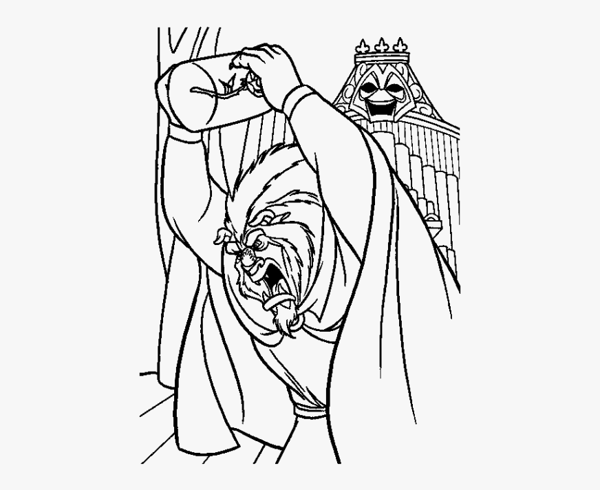 beauty and the beast coloring pages line art transparent