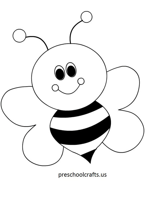 bee coloring pages preschool and kindergarten