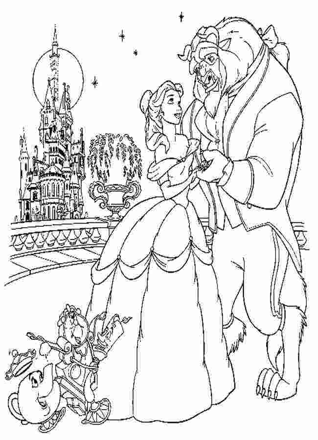 bell beauty and the beast coloring pages beauty and the