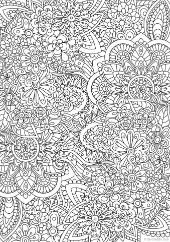 best advanced coloring pages for adults printable adult