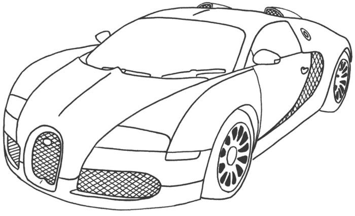 best car sport bugatti veyron coloring page car coloring