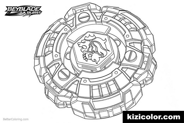 beyblade burst pages with lion kizi free coloring pages
