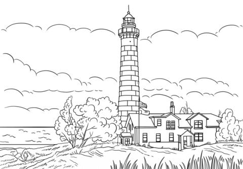 big sable point lighthouse ludington michigan coloring