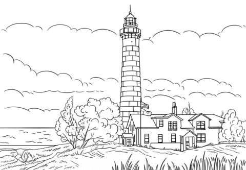 big sable point lighthouse ludington michigan coloring