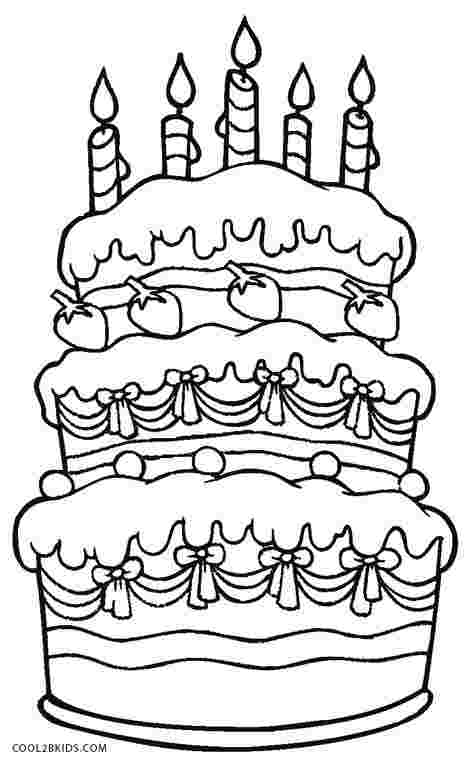 Birthday Cake Coloring Pages Gallery - Whitesbelfast.com