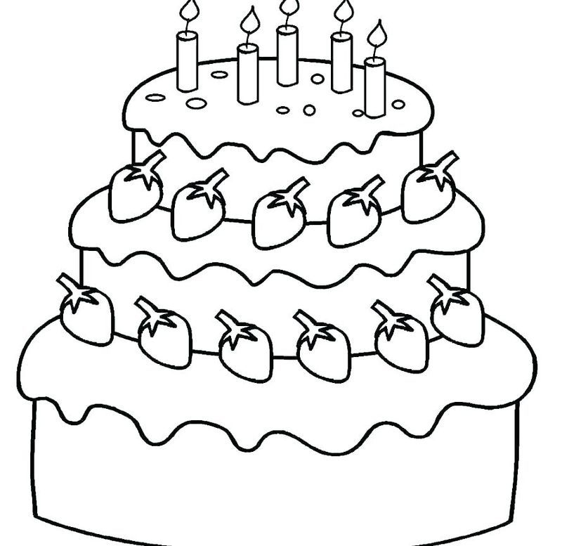 birthday cake coloring pages happy birthday coloring pages