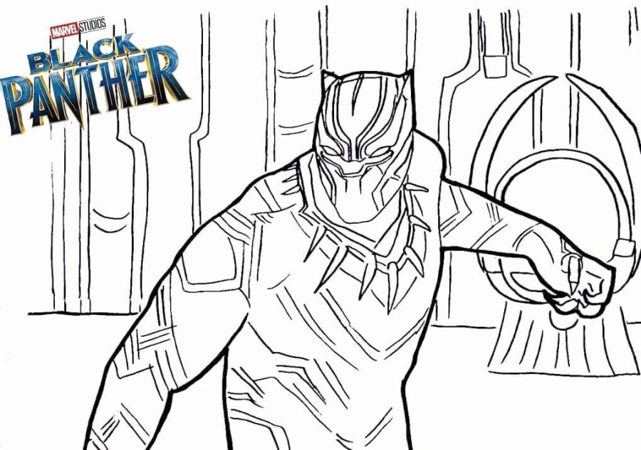 black panther coloring page elegant free printable black