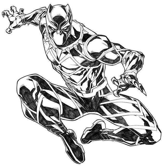 black panther coloring pages schwarzer panther zeichnung