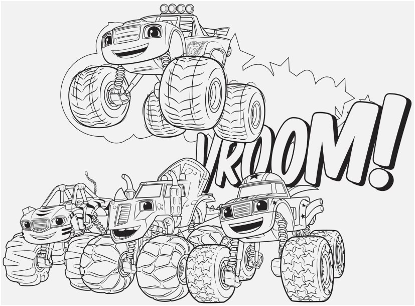 blaze coloring pages display blaze and the monster machines