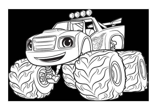 blaze coloring pages free free fun for kids