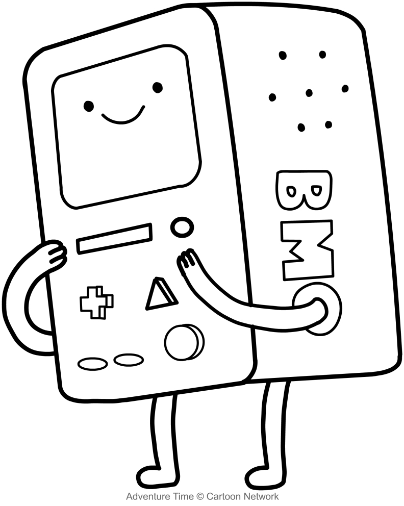 bmo il computer adventure time coloring pages