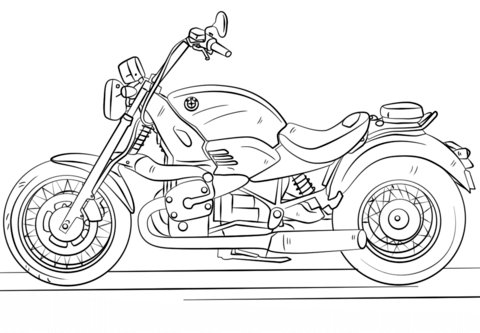 bmw motorcycle omalovnka free printable coloring pages