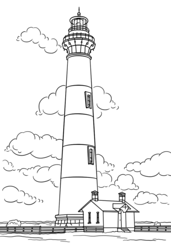 bodie island lighthouse north carolina coloring page free