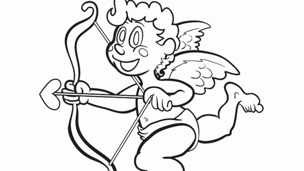 bow and arrow coloring page elegant bow and arrow coloring