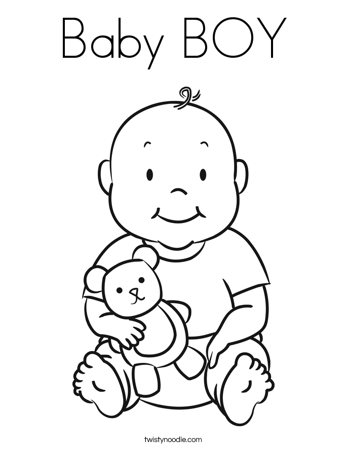 boy ba shower coloring pages ba boy coloring page