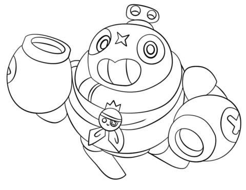 brawl stars tick coloring page free printable coloring pages