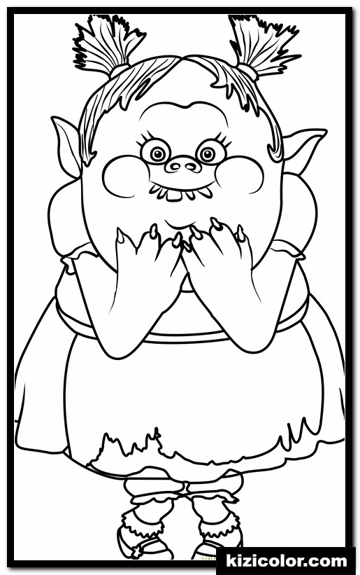 bridget from trolls kizi free coloring pages for