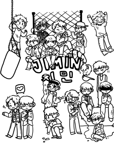 bts coloring book tumblr