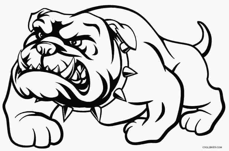 bulldog coloring pages print printable dog coloring pages