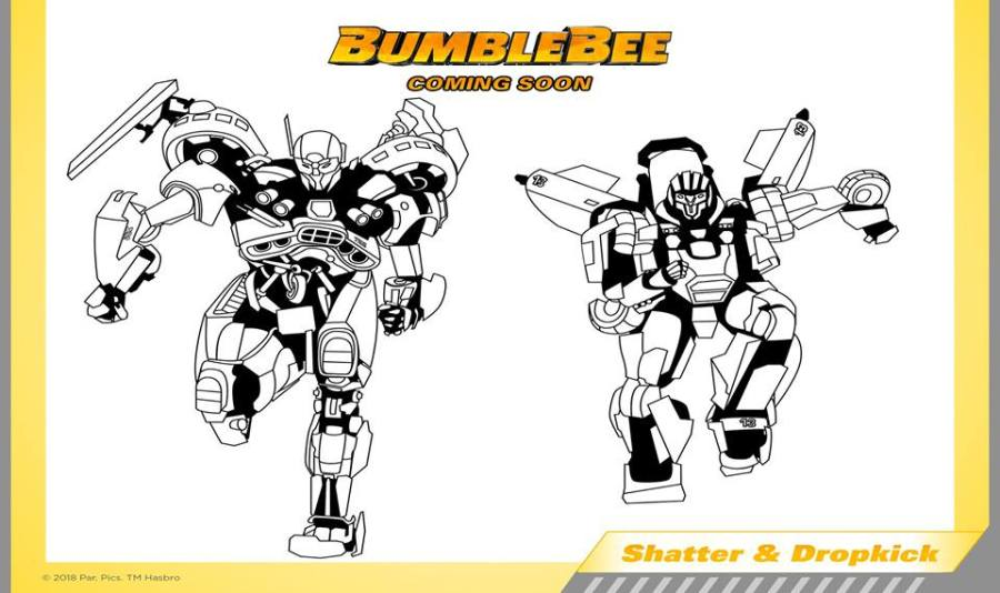 bumblebee movie official coloring activity and papercraft