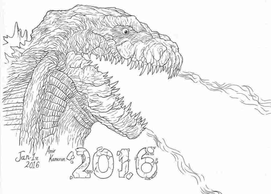 burning godzilla coloring pages godzilla coloring pages to