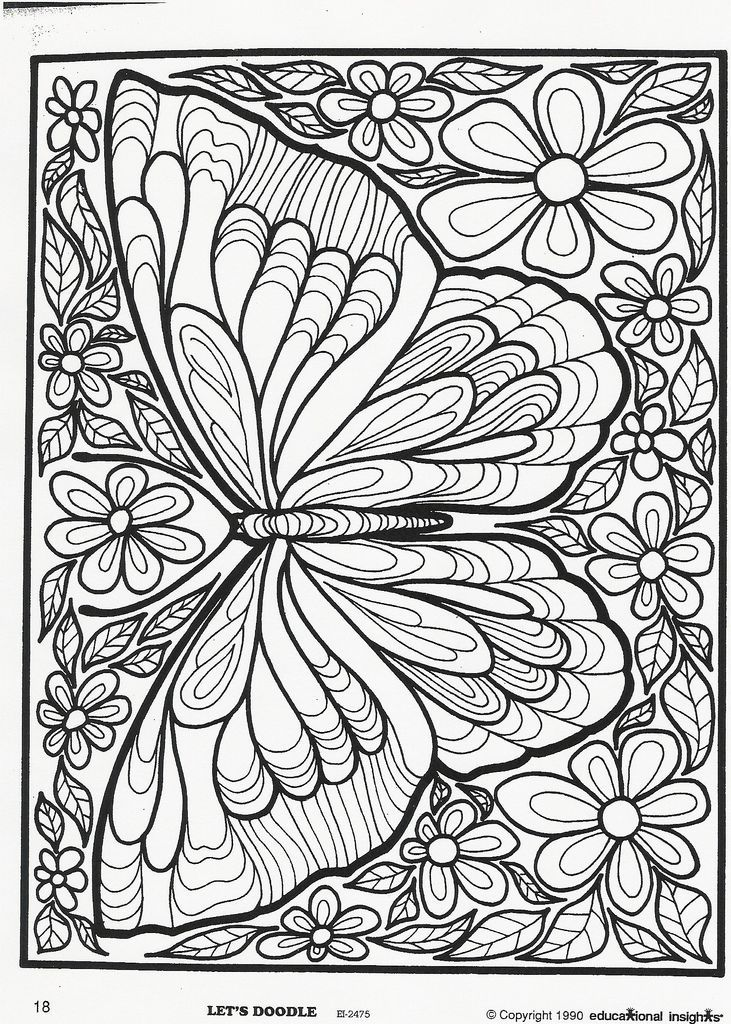 butterfly mandala butterfly coloring page coloring