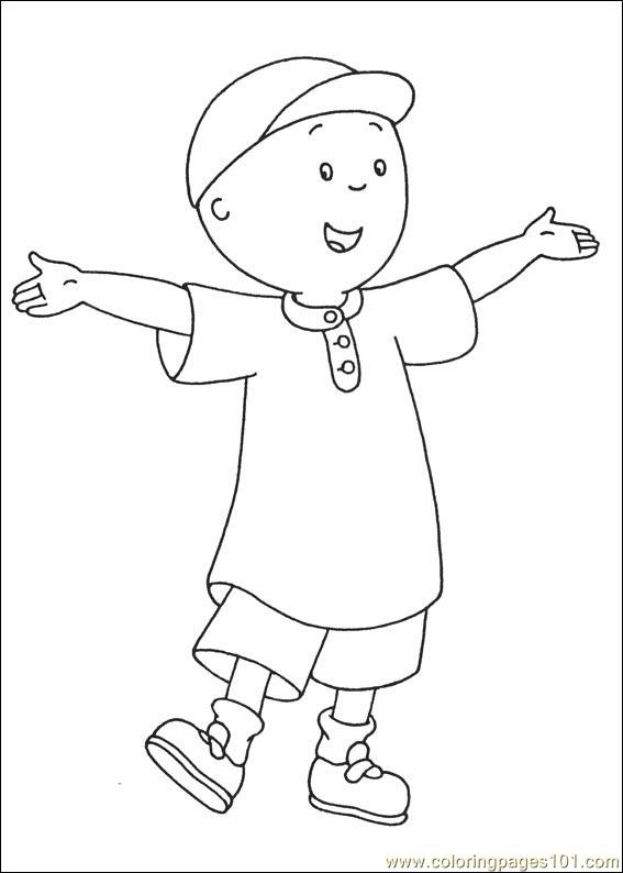 caillou coloring pages 024 coloring page free caillou