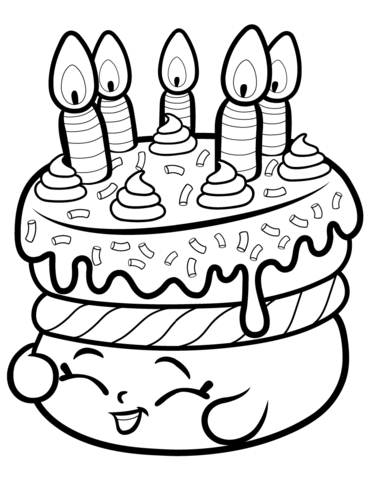 cake wishes shopkin coloring page free printable coloring