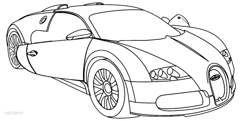 car coloring pages bugatti