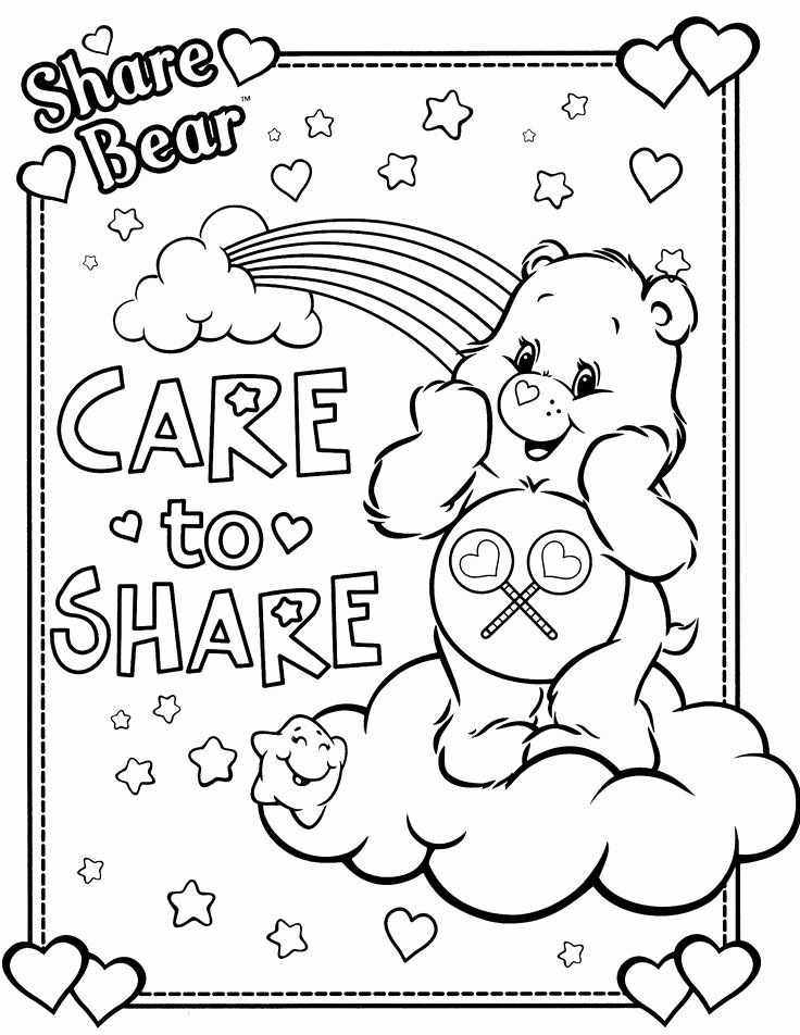 care bear coloring book beautiful care bears coloring pages