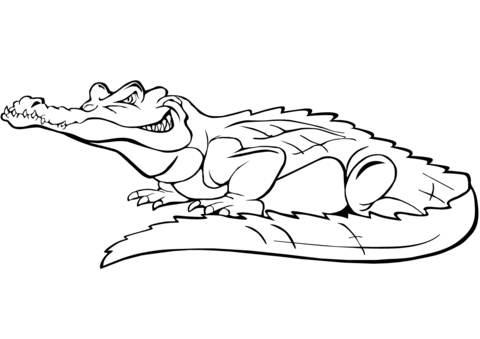 cartoon crocodile coloring page free printable coloring pages