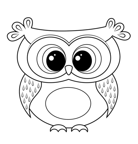 cartoon owl coloring page owl coloring pages animal