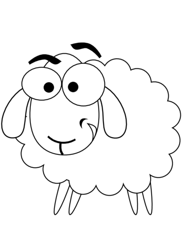 cartoon sheep coloring page free printable coloring pages
