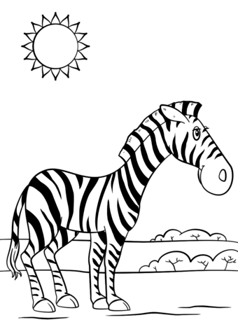 cartoon zebra coloring page free printable coloring pages