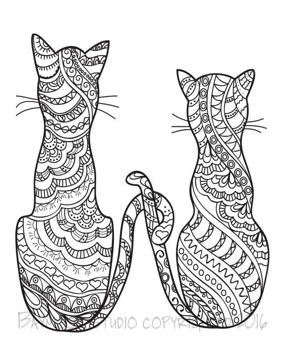 cat coloring pages for adults part 3