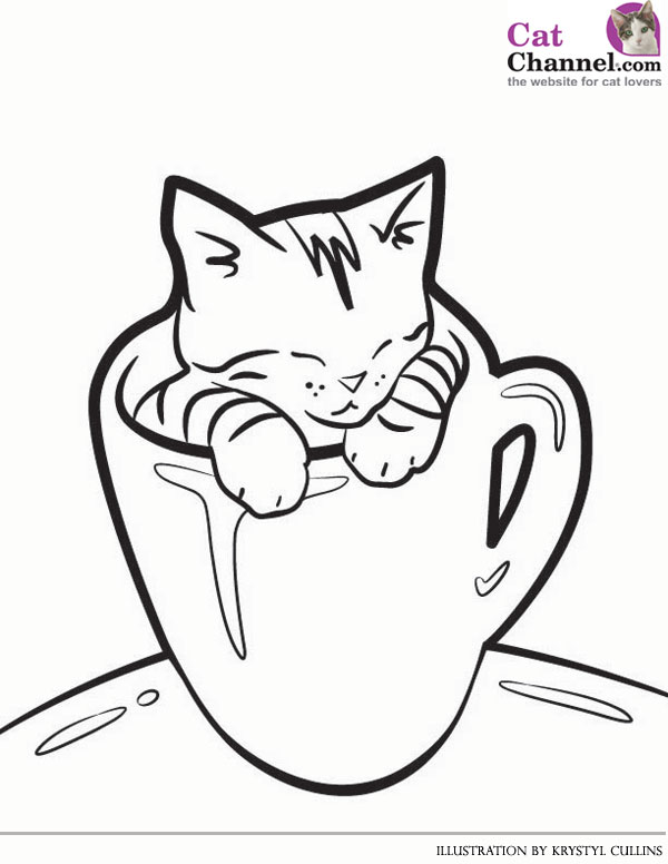 cat coloring pages kids at getdrawings free for