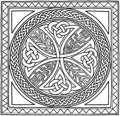 celtic border patterns free celtic cross coloring pages