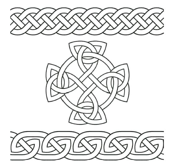 celtic coloring pages cross page for preschool free