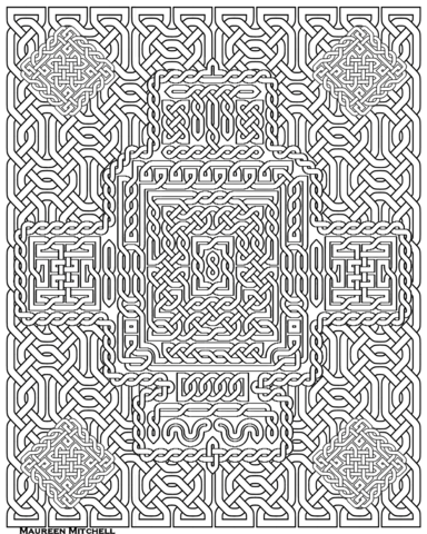 celtic knot pattern coloring page free printable coloring