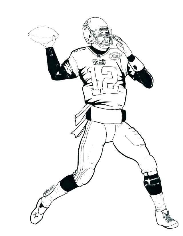 chagers players nfl football coloring pages