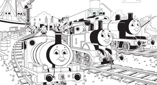 chef birthday party favors train coloring pages thomas