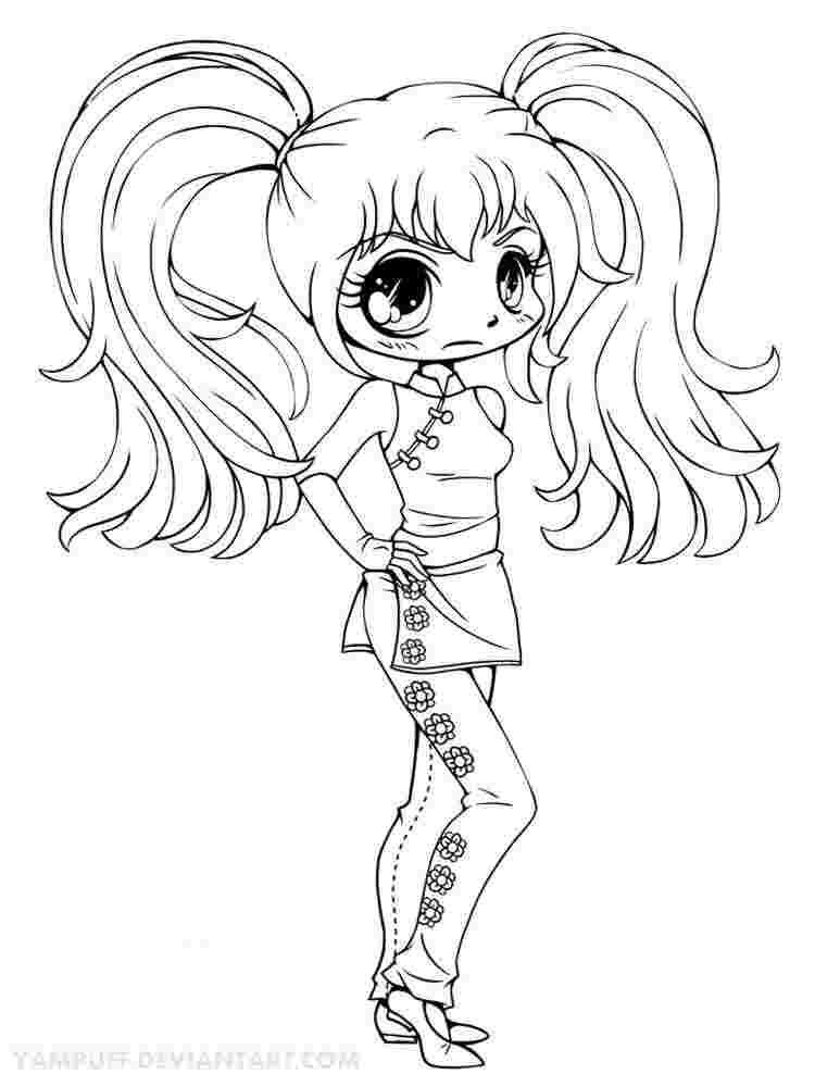 chibi girl coloring pages printable free printable chibi