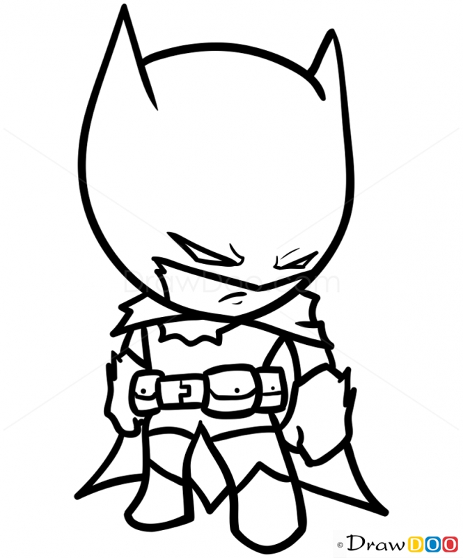 chibi superheroes coloring pages